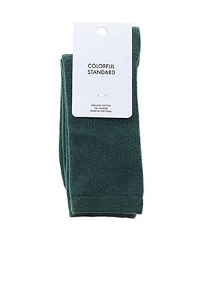 Chaussettes vert COLORFUL STANDARD pour femme