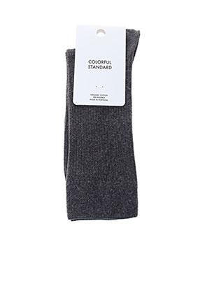 Chaussettes gris COLORFUL STANDARD pour homme