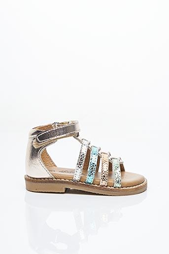 Sandales/Nu pieds beige BOPY pour fille
