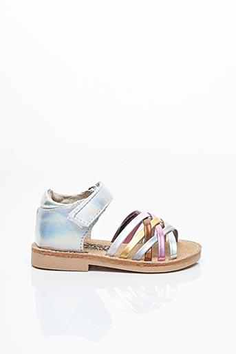 Sandales/Nu pieds gris BOPY pour fille