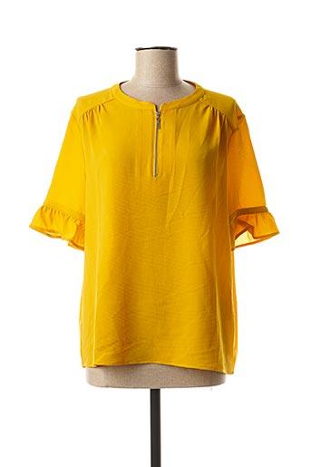 Blouse manches longues jaune KAPORAL pour femme