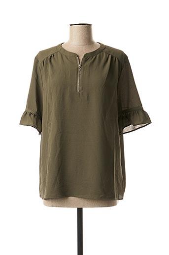 Blouse manches longues vert KAPORAL pour femme
