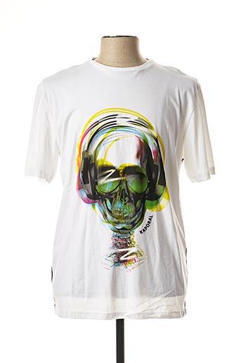 T-shirt manches courtes blanc KAPORAL pour homme