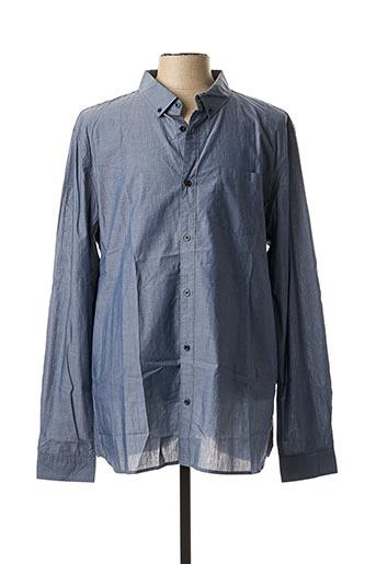 Chemise manches longues bleu TEDDY SMITH pour homme