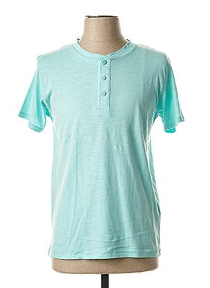 T-shirt manches courtes bleu CROSSBY pour homme