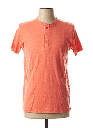 T-shirt manches courtes orange CROSSBY pour homme