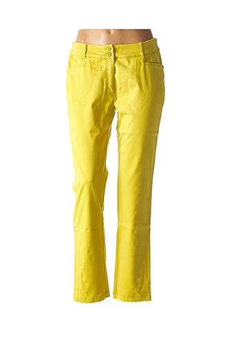 Pantalon 7/8 jaune AVENTURES DES TOILES pour femme