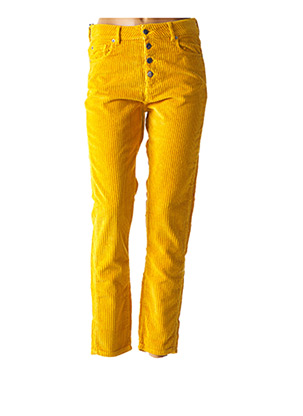 Pantalon casual jaune ACQUAVERDE pour femme
