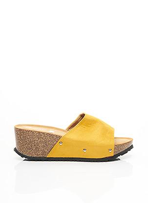 Mules/Sabots jaune C.H.CREATION pour femme