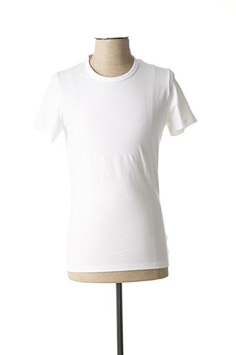 T-shirt manches courtes blanc HOM pour homme