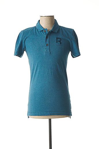 Polo manches courtes bleu REEBOK pour homme