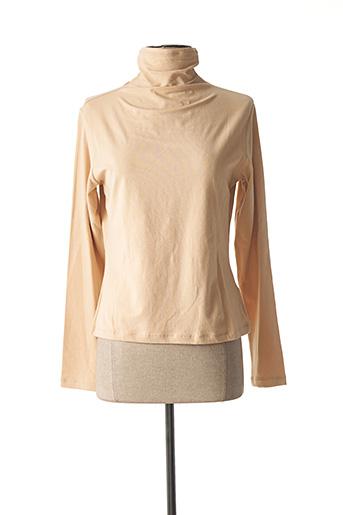 T-shirt manches longues beige LAUREN VIDAL pour femme