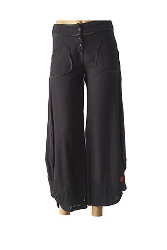 Pantalon 7/8 noir AVENTURES DES TOILES pour femme