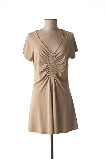 Robe courte marron LAUREN VIDAL pour femme