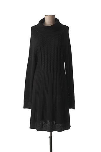 Robe pull noir LAUREN VIDAL pour femme