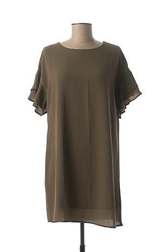 Robe courte vert SWEEWË pour femme