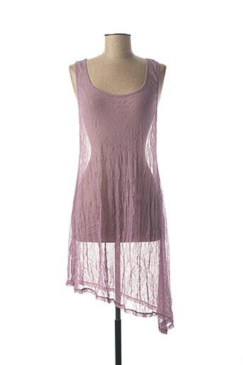 Robe mi-longue violet DECA pour femme