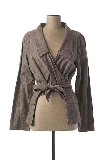 Veste casual marron LAUREN VIDAL pour femme