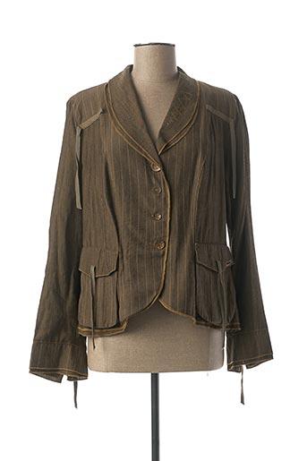 Veste casual vert BAI AMOUR pour femme