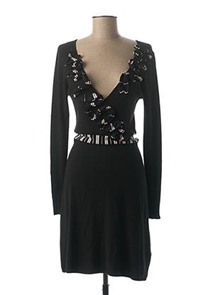 Robe mi-longue noir ETINCELLE pour femme