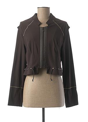 Veste casual marron E-BRYDE pour femme