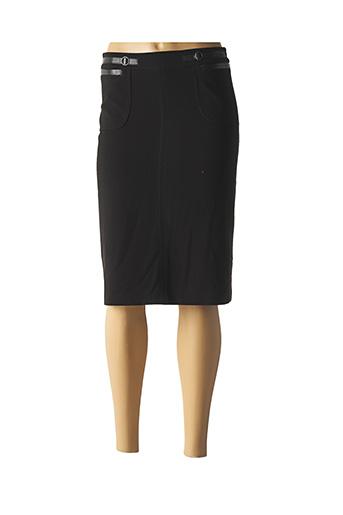 Jupe mi-longue noir ABSOLU pour femme