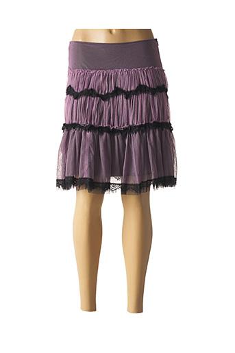 Jupe mi-longue violet ELISA CAVALETTI pour femme