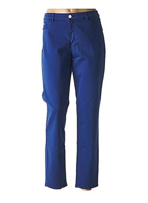 Pantalon casual bleu ONE STEP pour femme