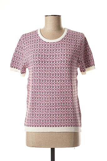 Pull col rond rose ARTLOVE pour femme