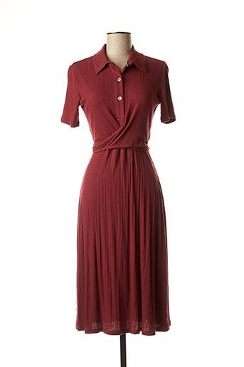 Robe mi-longue rouge SALSA pour femme