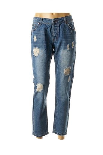 Jeans boyfriend bleu BEST MOUNTAIN pour femme