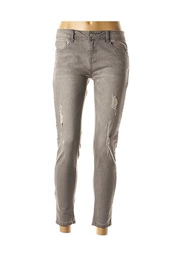 Jeans skinny gris BEST MOUNTAIN pour femme