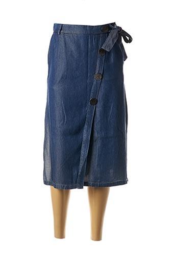 Jupe mi-longue bleu SALSA pour femme