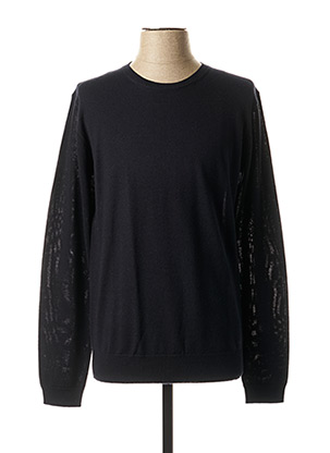 Pull col rond bleu KARL LAGERFELD pour homme
