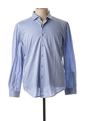 Chemise manches longues bleu HUGO BOSS pour homme