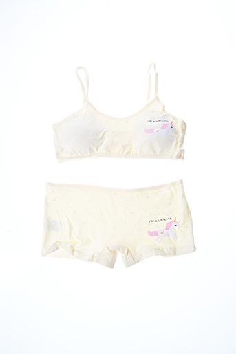 Ensemble lingerie jaune ROSA JUNIO pour fille