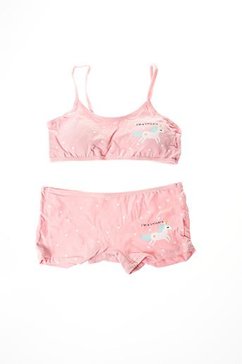 Ensemble lingerie rose ROSA JUNIO pour fille