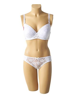 Ensemble lingerie blanc ROSA JUNIO pour femme