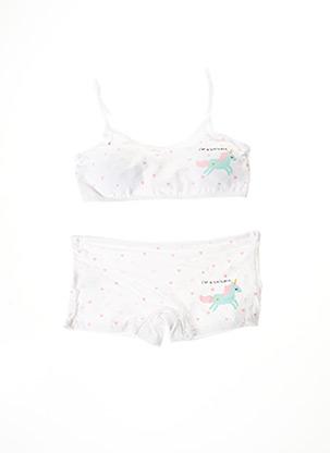 Ensemble lingerie blanc ROSA JUNIO pour fille