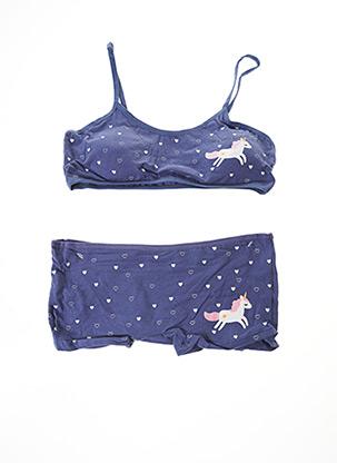 Ensemble lingerie bleu ROSA JUNIO pour fille