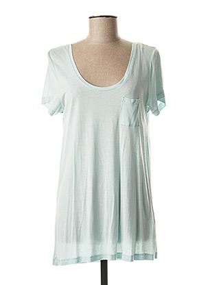 T-shirt manches courtes bleu MAISON SCOTCH pour femme