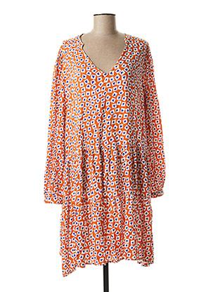 Robe mi-longue orange COMPAÑIA FANTASTICA pour femme