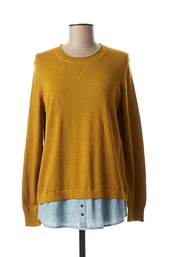 Pull tunique jaune EDC pour femme