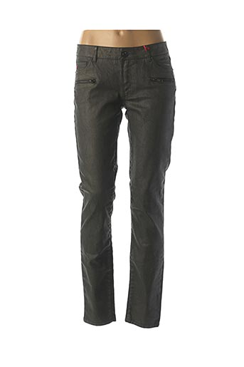 Jeans coupe slim gris I.CODE (By IKKS) pour femme