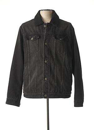 Veste en jean noir PREMIUM DE JACK AND JONES pour homme