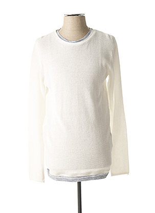Pull col rond blanc ANTONY MORATO pour homme