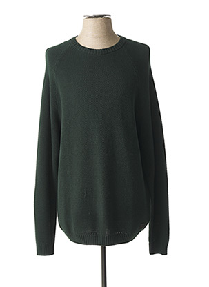 Pull col rond vert LEE pour homme