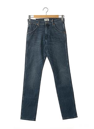 Jeans coupe slim bleu WRANGLER pour homme