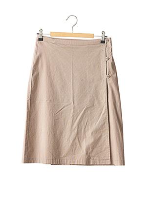 Jupe mi-longue marron PETIT BATEAU pour fille