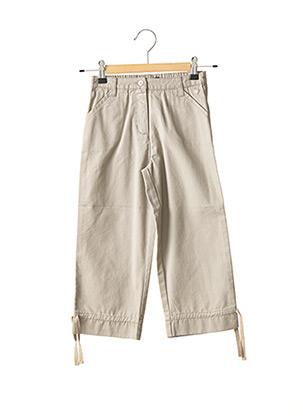 Pantalon casual beige LILI GAUFRETTE pour fille
